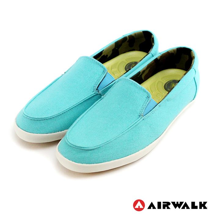AIRWALK(女) - 立線悠活系列 直套帆布鞋 - 優雅藍6.5