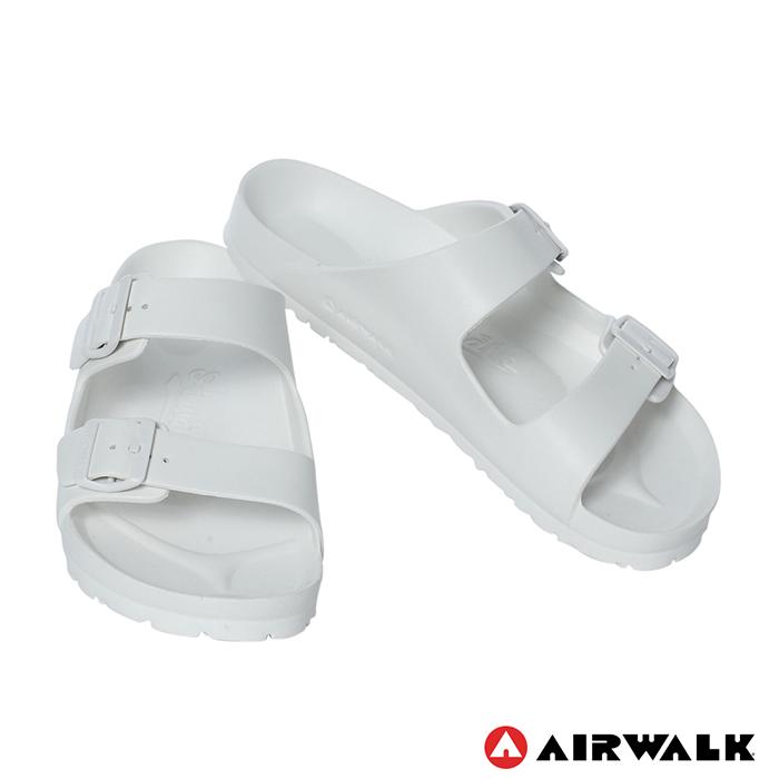 AIRWALK(女) - EVA中性雙扣環羅馬休閒拖鞋 - 白