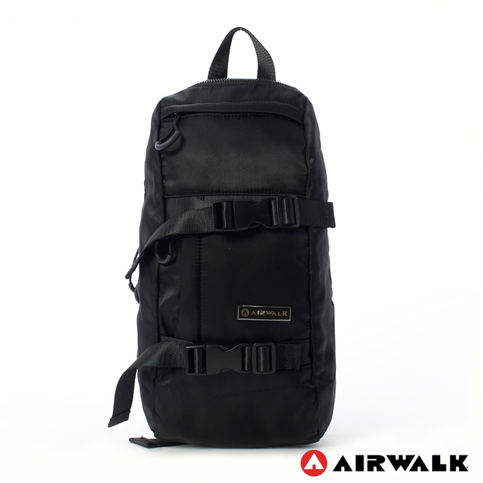 AIRWALK - 輕便個性雙釦環 單雙肩背包 - 黑