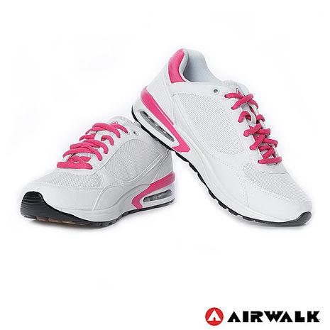 AIRWALK(女) - 輕量氣墊休閒鞋 - 白粉6