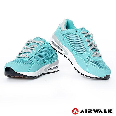 AIRWALK(女) - 輕量氣墊休閒鞋 - 湖水綠7.5