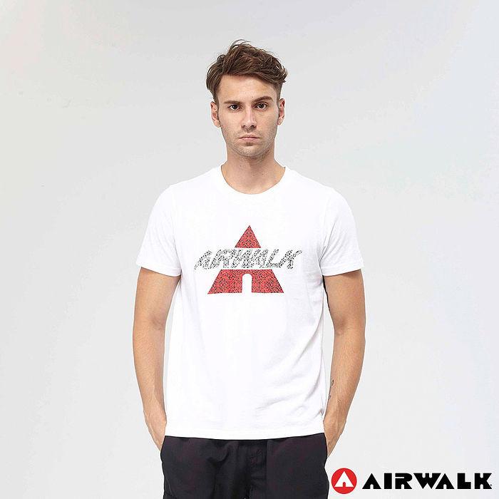 AIRWALK(男) - A字潮流棉圓領T恤 - 白XL