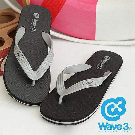 WAVE 3 (男) - 大器 ESP 二代橡膠大底人字夾腳拖 - 灰黑XL(27.5-28)