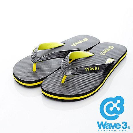 WAVE 3 (男) - 雙子座 獨家設計ESP 四代雙色鞋耳人字夾腳拖鞋 - 黃黑
