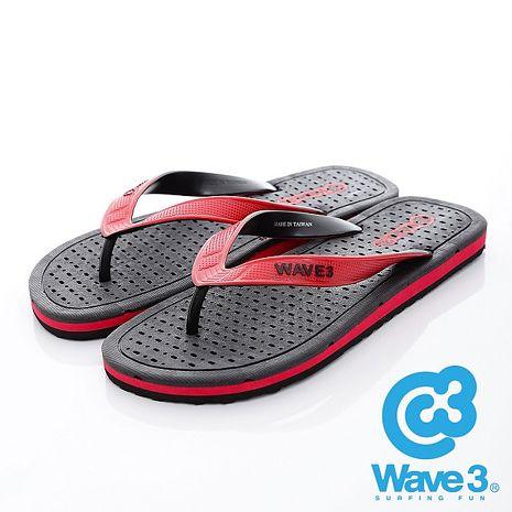 WAVE 3 (男) - 極度乾燥 獨家排水設計透爽人字夾腳拖鞋 - 黑紅