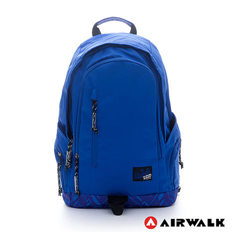 AIRWALK-迷彩底半圓雙層登山後背包-藍