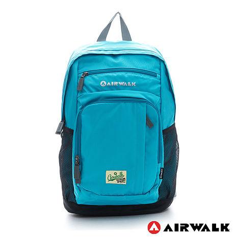 AIRWALK-森林系男孩多功能強化尼龍後背包-溪水藍