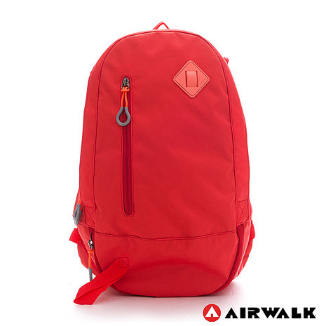 AIRWALK - 簡約純色 輕量蛋型後背包 - 純橘