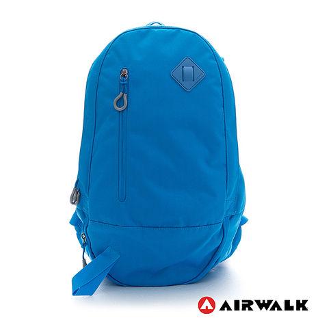 AIRWALK-簡約純色輕量蛋型後背包-純藍