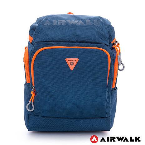 AIRWALK(KIDS) - 都市小遊俠 後開式多功能平板後背包 - 深藍