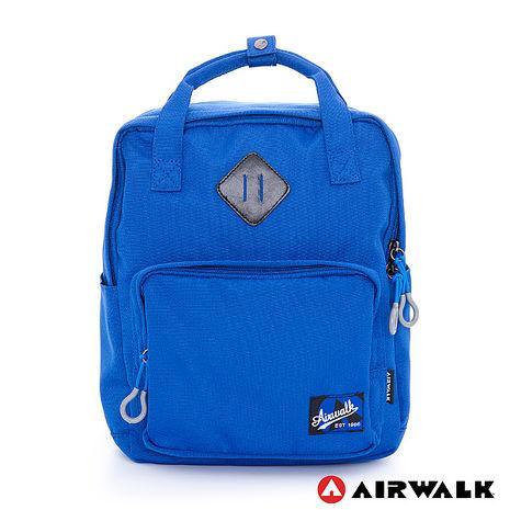 AIRWALK(KIDS) - 微笑機器人 輕量純色手提後背二用包 - 機器人藍