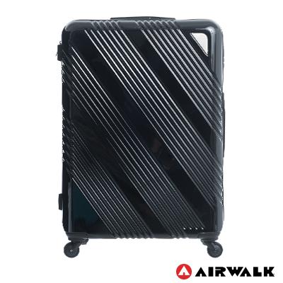AIRWALK LUGGAGE - 斜紋系列 28吋ABS+PC拉鍊行李箱 - 斜紋黑