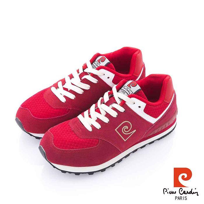 Pierre Cardin(女) - 純色復古 全包覆式舒適運動慢跑鞋 - 70紅