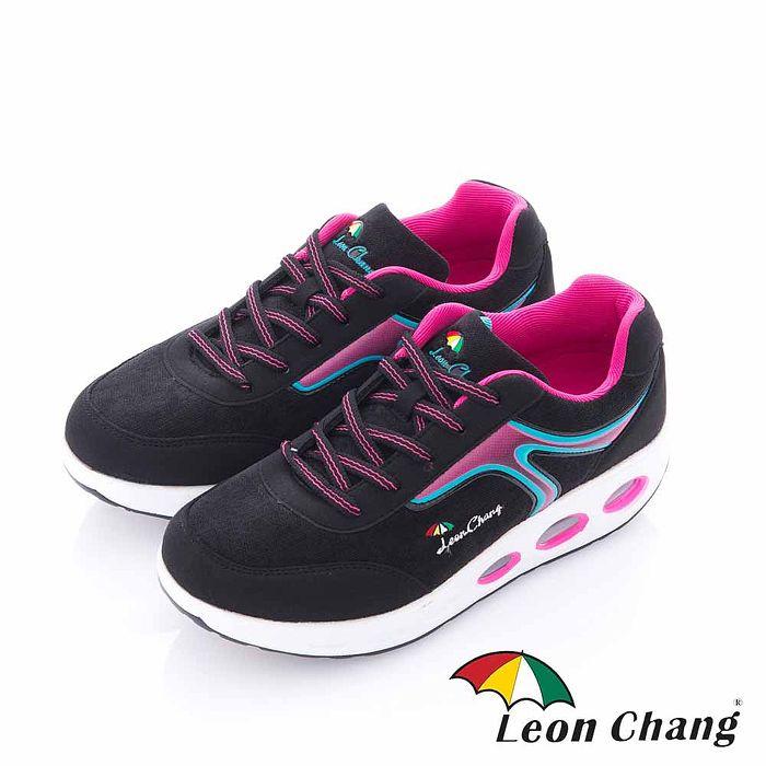 Leon Chang(女) - 形色之間 厚底健康舒適休閒運動鞋 - 粉裡黑