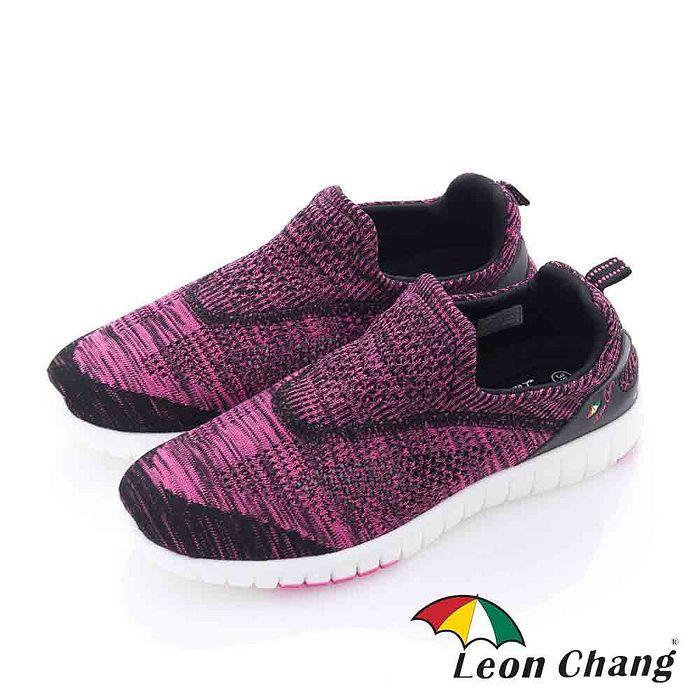 Leon Chang(女) - 彩虹魚 漸層編織輕量直套休閒運動鞋 - 紫黑
