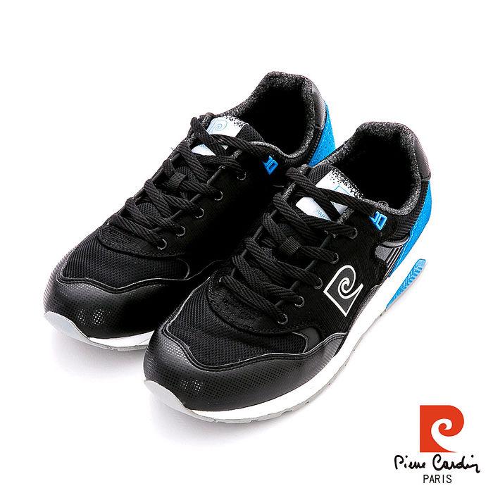 Pierre Cardin(男) - 80ROCK 網紋雙料內增高復古運動鞋 - ?黑42