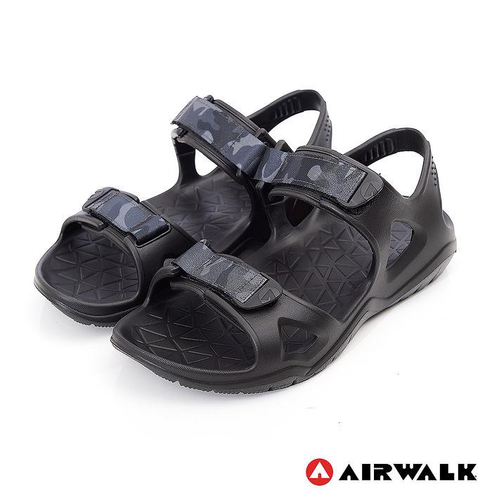 AIRWALK-防水輕量減壓涼鞋-黑