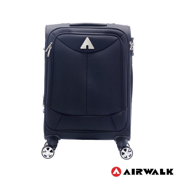 AIRWALK LUGGAGE - 尊爵系列黑色的驕傲 布面拉鍊20吋行李箱 -傲人黑