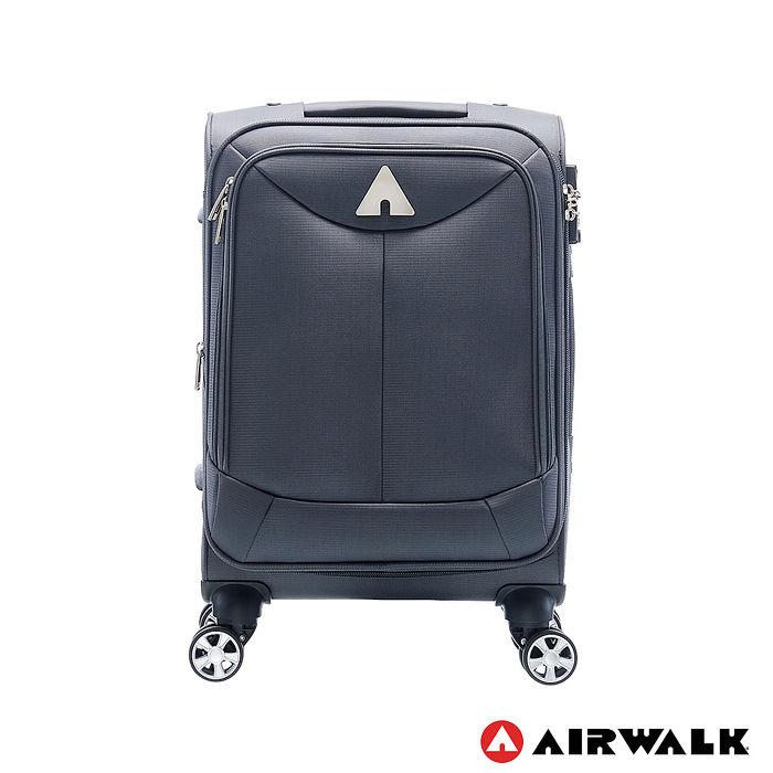 AIRWALK LUGGAGE - 尊爵系列灰色的沉靜 布面拉鍊20吋行李箱 - 安靜灰