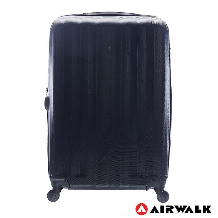 AIRWALK LUGGAGE - 海岸線系列 BoBo經濟款ABS硬殼拉鍊28吋行李箱 - 黑水黑