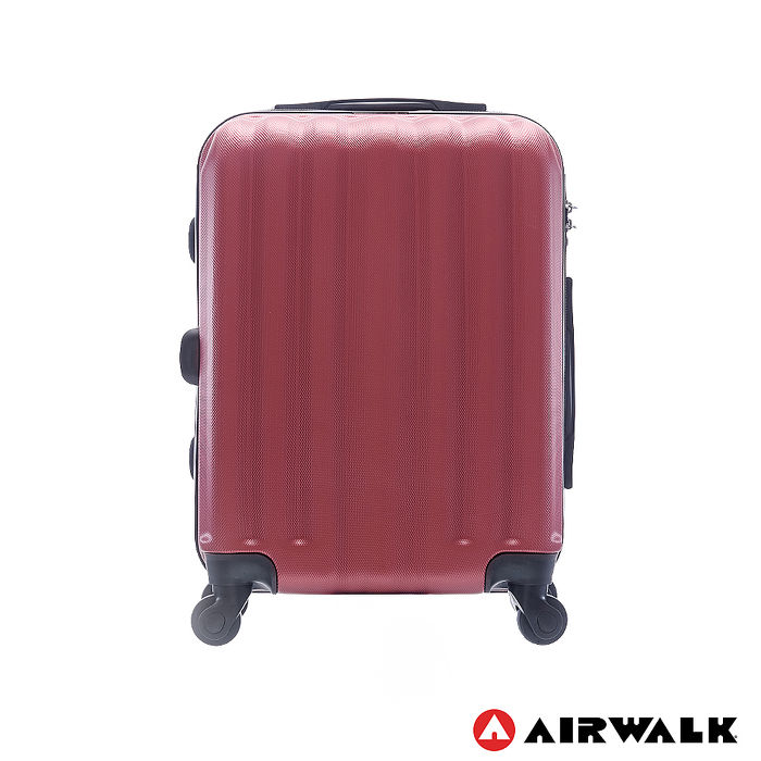 AIRWALK LUGGAGE -海岸線系列 BoBo經濟款ABS硬殼拉鍊20吋行李箱 - 熱點紅