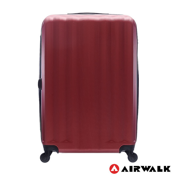 AIRWALK LUGGAGE - 海岸線系列 BoBo經濟款ABS硬殼拉鍊28吋行李箱 - 熱點紅