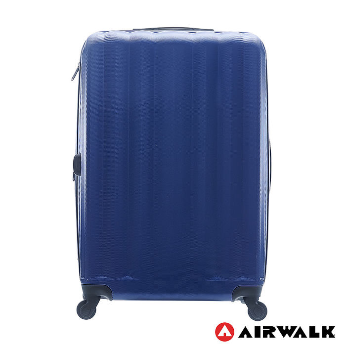 AIRWALK LUGGAGE -海岸線系列 BoBo經濟款ABS硬殼拉鍊28吋行李箱 - 晝日藍