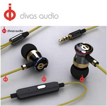 Divas DV-2013【全銅腔體,質感升級】入耳式耳機 - 皇冠黃