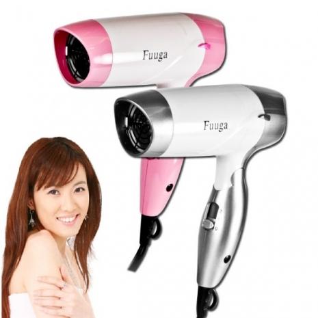 【Fuuga風雅】負離子雙電壓折疊式吹風機(ZY-H0288)粉紅