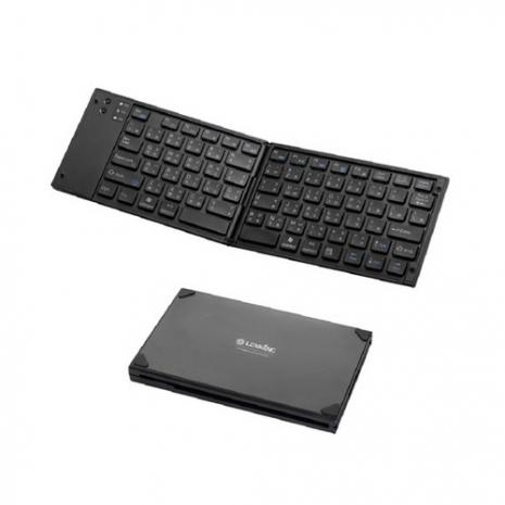【LEXKING】藍芽天狼星摺疊鍵盤-黑(BT-7268B)