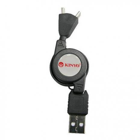 【KINYO】USB 2合1充電傳輸連接線(USB-35)
