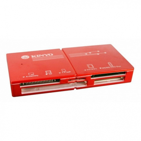 【KINYO】USB 3.0 極速輕薄5插槽讀卡機(KCR-360)