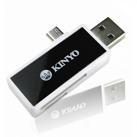 【KINYO】SD/Micro SD雙卡雙介面OTG讀卡機(PCR-362)