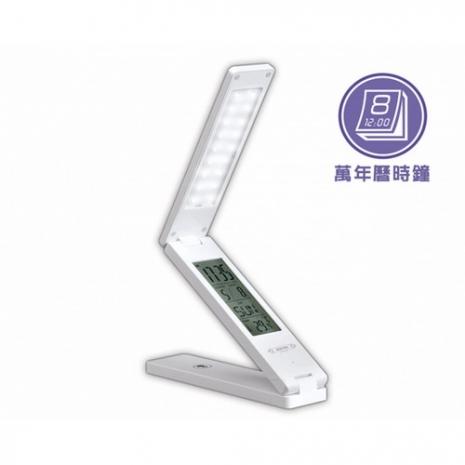 【KINYO】萬年曆折疊觸控式USB充電LED檯燈(PLED-861)-家電.影音-myfone購物