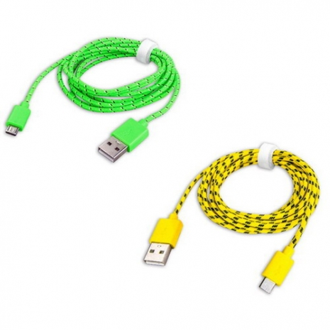 【KINYO】Micro USB超長2M充電傳輸編織線(USB-40)