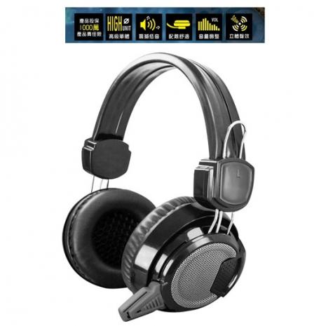 【KINYO】闇騎士電競立體聲耳機麥克風(EM-3701)-3C電腦週邊-myfone購物