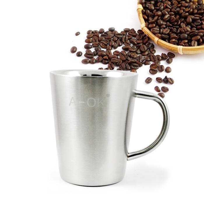 【三零四嚴選】#304不鏽鋼簡約美式咖啡杯 1入 不含蓋/400cc/個