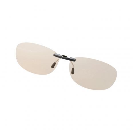 ELECOM 夾式抗藍光眼鏡 夾式抗藍光眼鏡 淡黃鏡片 M