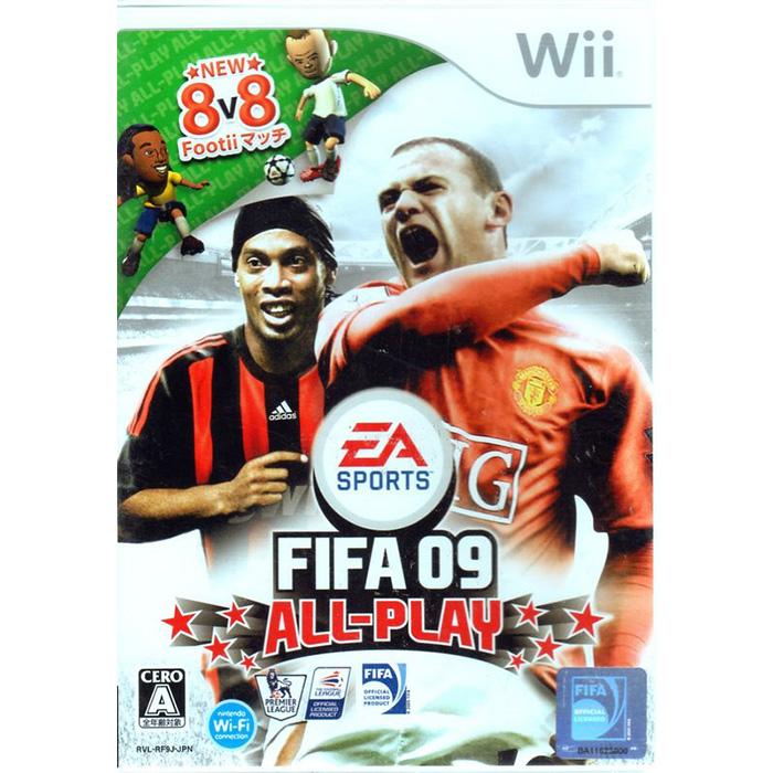 全新現貨中Wii遊戲 國際足盟大賽09 All-Play FIFA 09 日文日版 Wii U日規可以執行