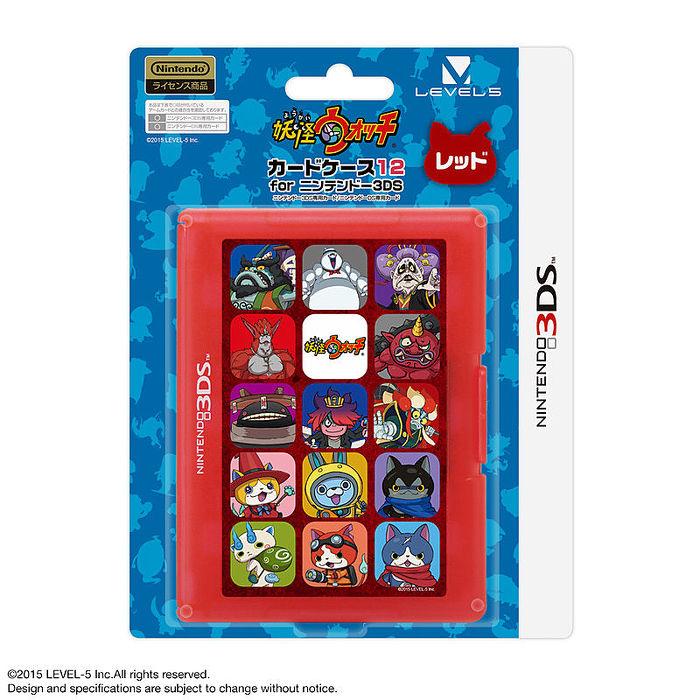 3DS NDS兩用任天堂授權 LEVEL-5 妖怪手錶剋星 赤貓團 12入卡帶盒 紅色 LVAC-0004