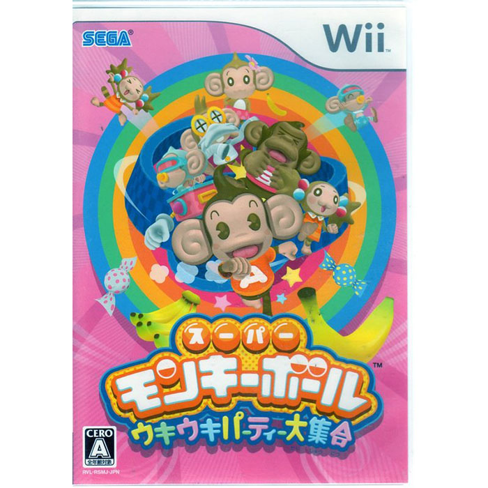 全新現貨中 Wii遊戲 超級猴子球 派對大集合 Super Monkey 日文日版 Wii U日規可以執行-相機.消費電子.汽機車-myfone購物