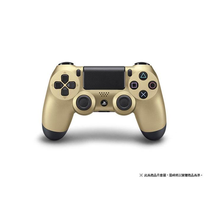 平行輸入 PS4 主機專用 DS4 SONY原廠 無線藍芽震動手把 金色款 PC可用