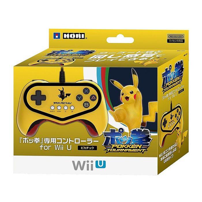 Wii U專用日本 HORI 限定 皮卡丘款 神寶拳 專用控制器 有線手把 WIU-101