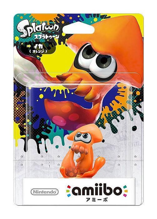 任天堂原廠 Wii U 漆彈大作戰 近距離無線連線 NFC 連動人偶玩具 amiibo 橘花枝 橘烏賊SPLATOON