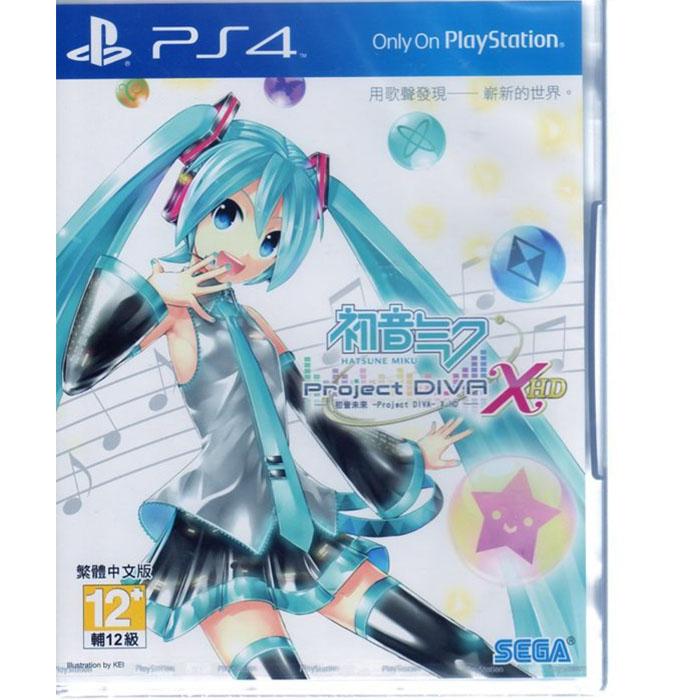 現貨中PS4遊戲 初音未來 Project DIVA X HD Hatsune Miku 中文亞版