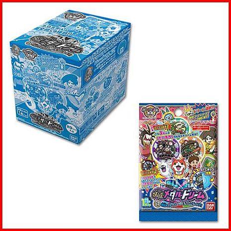 支援3DS 9月全新NFC功能 妖怪手錶 DX夢 幽靈手錶 專用徽章 夢02 地獄 抓住夢想的機會整盒20包