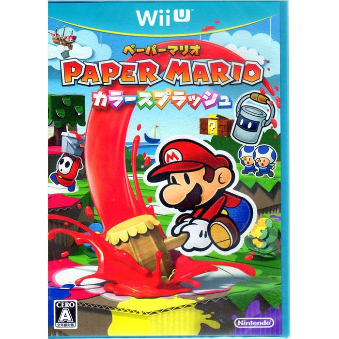 現貨中 Wii U遊戲 紙片瑪利歐 色彩噴濺 Paper Mario Color Splash 日文日版-相機.消費電子.汽機車-myfone購物
