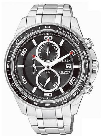 《CITIZEN》Eco-Drive 【鈦】輕量潮流光動能計時時尚腕錶CA0341-52E-黑/43mm