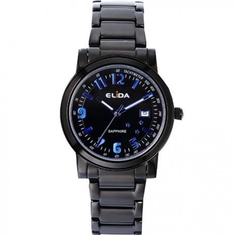 《ELIDA》耀眼星光時尚腕錶-藍/38mm
