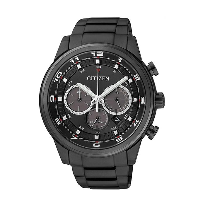 《CITIZEN》光動能。星耀騎士黑三眼計時腕錶-黑 (CA4035-57E)
